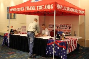 Operation Thank You Card Signing Tent